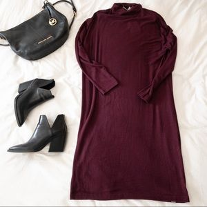 NWT Bench Mock Neck Sweater Dress - Burgundy - M